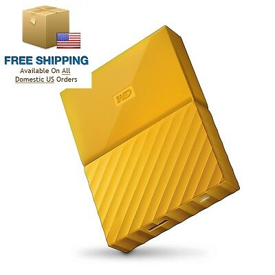 WD 2TB Yellow My Passport Portable External Hard Drive - USB 3.0...