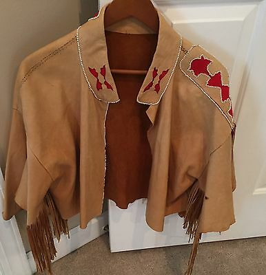 BEAUTIFUL Ladies Leather Jacket by renowned Native American artist