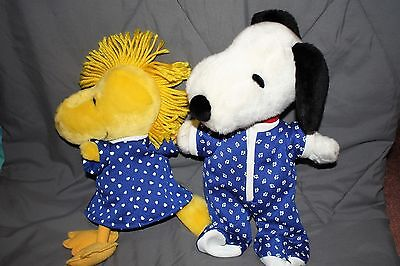 "Kohl's Cares SNOOPY and WOODSTOCK in Pajamas 16"" PLUSH"