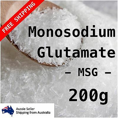 Monosodium Glutamate MSG 200g gourmet powder umami seasoning flavour enhancer