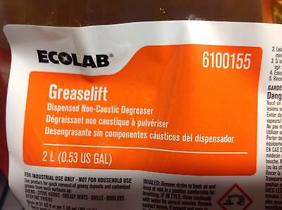 New & Fresh.  One (1) Bag of Ecolab #6100155 GreaseLift Non-Caustic Degreaser.