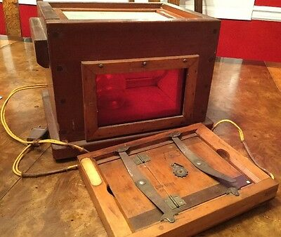 Antique Contact Print Photo Maker Copier Photography Wood Frame Steampunk