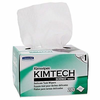 Kimwipes Delicate Task Kimtech Science Wipers (34120), White, 1-PLY, 30 Pop-Up B