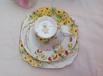 "Royal Standard ""falling Leaf"" Trio High Tea Shabby Chic"