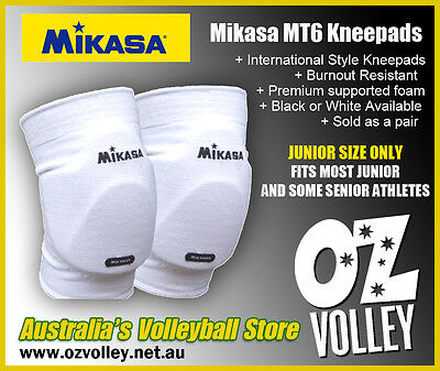 Mikasa MT6 Volleyball International Style Kneepads - Black or White - OzVolley