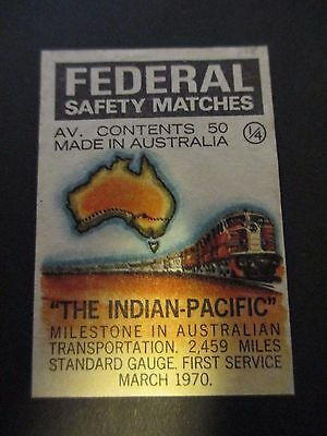 Federal Indian Pacific Matchbox Label