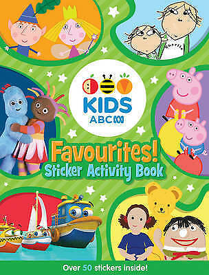 ABC KIDS Favourites! Sticker Activity Book By ABC NEW Paperback - Free Shipping!