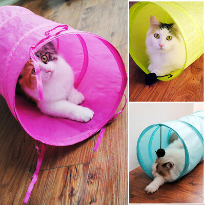 Pet Cat Kitten Tunnel Tunnel pliable Cat Rabbit Playing Toy Tunnels Outdoor