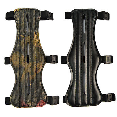 NEW Archery Arm Guard Hunting Target Shooting Armguard Protector 3 Straps 8.7""