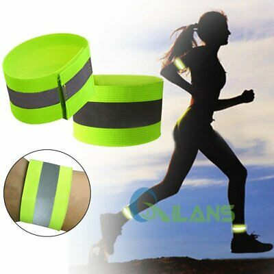 20/50Pairs High Visibility Arm Bands Reflective Fluorescent Safety Arm Strap【AU】