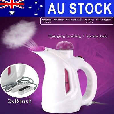 AU Portable Steamer Cleaner Fabric Clothes Garment Steam Iron Handheld Travel