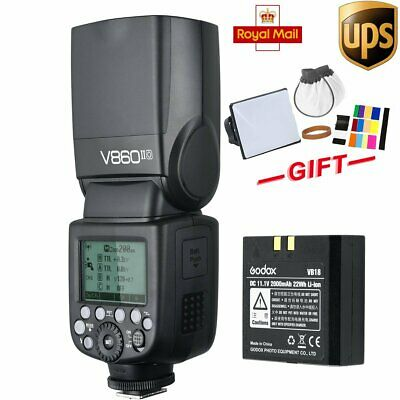 UK Godox V860II-O 2.4G GN60 TTL HSS Flash + VB18 Battery for Olympus Panasonic