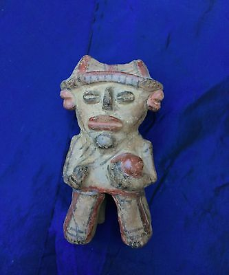 Pre-Columbian Clay Full Figure Pieced Together
