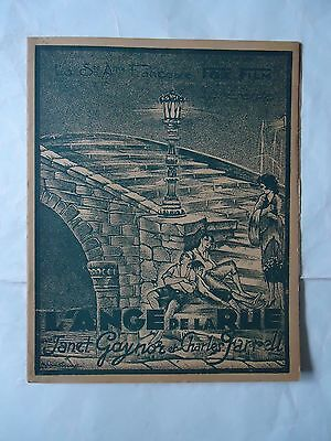 STREET ANGEL/JANET GAYNOR+CHARLES FARRELL/ 27A/french pressbook 20's