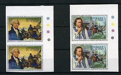 1976 Tchad Air Mail Bicentenaire United Stated Yvert A 171/75 Mnh E350