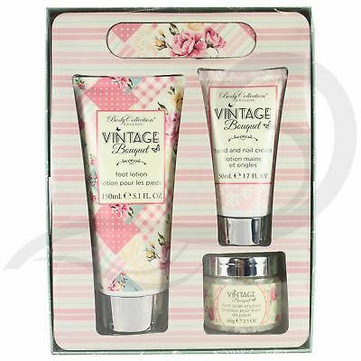 Body Collection Vintage Moisturising Hand and Foot Cream Lotion Gift Set