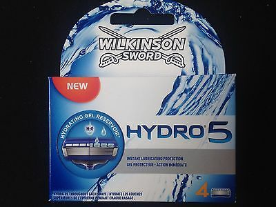 Wilkinson Sword Hydro 5 Blade Refills -1 X 4 Pack (4 Blades) Boxed FREE POST