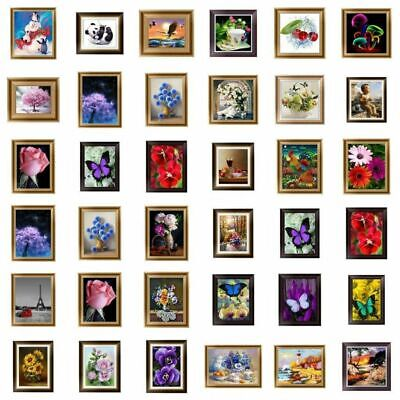 DIY 5D Diamond Painting Embroidery Animals Flower Cross Crafts Stitch Kit Decors