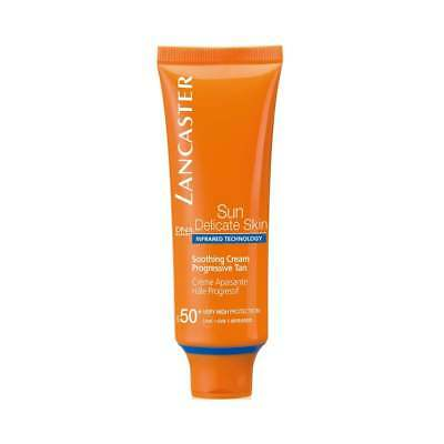 Lancaster Sun Soothing Cream Progessive Tan SPF50 50ml for Her, NEW + BOXED