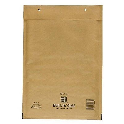 k //-->Mail Lite Sealed Air Size F / 3 Padded Envelopes Box of 50 - Gold