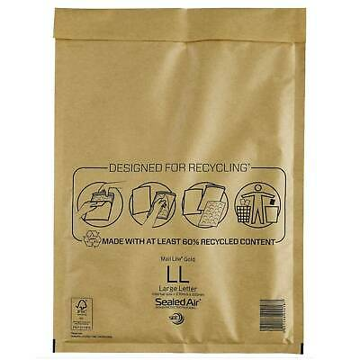 t //-->Mail Lite Sealed Air Size LL Padded Envelopes Box of 50 - Gold
