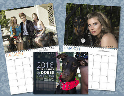Dudes Dames and Dobes 2016 Calendar feat Kano Axel Jack Georgia Doberman Rescue