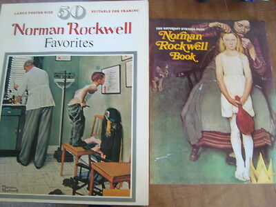 2x Norman Rockwell Books - 50 N.R. Favorites & The Saturday Evening Post N.R.