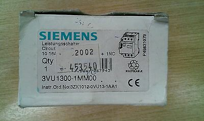 New Siemens 3VU1300-1MM00 Circuit breaker/Motor protector/Switch/Overload 10-16A