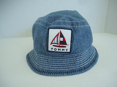 TOMMY HILFIGER Baby Toddler DENIM JEANS Sun Beach Bucket HAT Blue (ONE SIZE)
