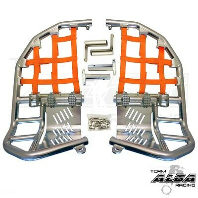 TRX 400EX TRX400EX Honda   Nerf Bars  Alba Racing      Silver//Orange  211 T1 SO