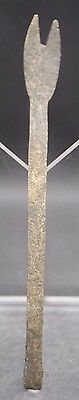 Medieval Thames Foreshore Brass Fork 15Th Century Ad