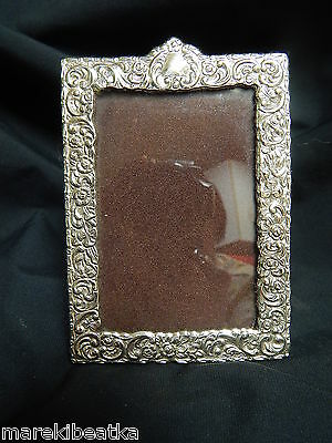 Antique Italian  Livi Giancarlo  Art Nouveau Ornate Sterling  Picture Frame