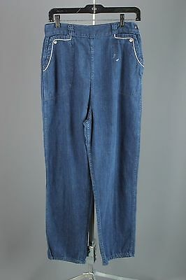VTG 1950s 1960s Women's Cotton Denim Side Zip Jeans #1525 50s 60s