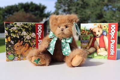O'Charely Bear Bearington Collection With 2 New 100 Piece Puzzles. 3 Item Lot