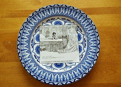 "Royal Doulton Gibson Girl Collectible Plate 10 "" SHE IS DISTURBED BY A VISION .."