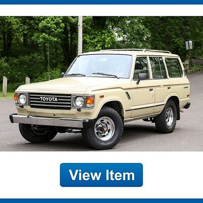1987 Toyota Land Cruiser FJ60 1987 Toyota Land Cruiser 138K Mi 4WD Manual L6 FJ60 Clean CARFAX Axle Lock!
