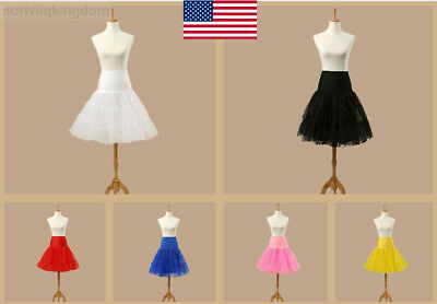 Women Retro Underskirt 50s Petticoat Rockabilly Tutu Dress Party Slips Net Skirt