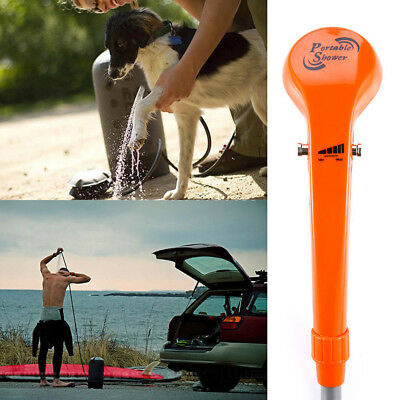 "12V Electric Car Plug Outdoor Camping Shower+""S"" Hook+ Suction Cup Set 3A 35W"