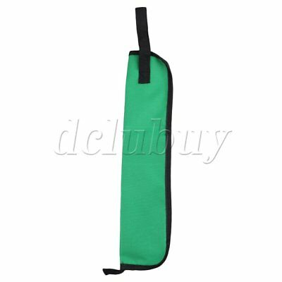 Green Oxford Cloth Water-resistant Drum Stick Bag Case w/ Carrying Strap