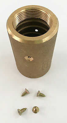 "Kuriyama NH-BR2 Brass Sandblast Nozzle Holder,For 1"" ID Hose, 110 PSI"