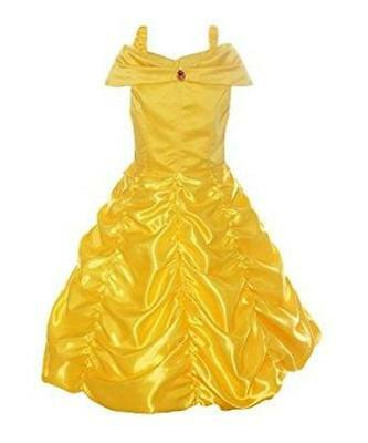 Belle Princess Disney inspired Beauty Beast Dress costume Child Toddler FREE SHP
