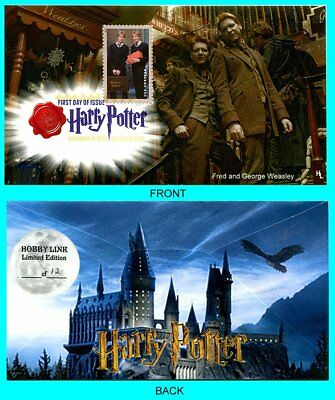 Harry Potter Fred and George Weasley  First Day Cover with Color Cancel Type 2