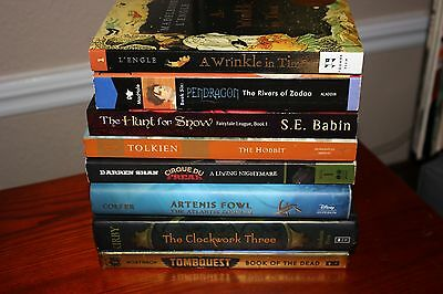 8 Book Lot of Young Adult Fantasy/Sci-Fi/Horror Artemis Fowl, The Hobbit, ++++++