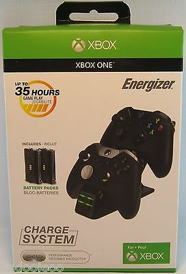 Xbox One Energizer Charge System - Black AU Version 4.0 New Sealed In Box