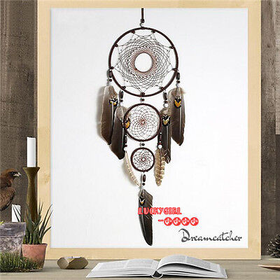 80CM Eagle Feathers Big Dream Catcher Net Indian Style Home Hanging Nice Gifts