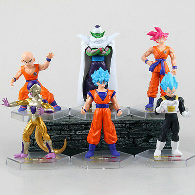 6pcs Dragon Ball Z Super Saiyan Son Goku Piccolo Kakarotto Frieza Vegeta PVC