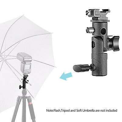 Neewer Black Pro Universal Speedlite Flash Umbrella Swivel Lamp Bracket