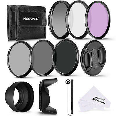 Neewer 58MM UV CPL FLD Lens Filter and ND2 ND4 ND8 Neutral Density Filter
