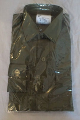 BRAND NEW OLIVE GREEN GENERAL SERVICE ARMY LONG SLEEVE SHIRTS x 12