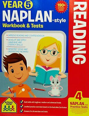 School Zone Year 5 Naplan-Style Reading Workbook and Tests NEW - Free Postage